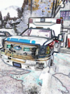 ambulance stylized